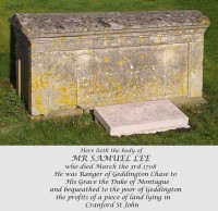 Mr Samuel Lee's Tomb
