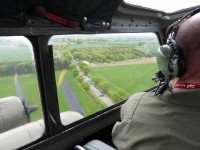 A view of the pilot's view of the Grafton Underwood USAF Memorial